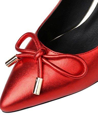 WSS 2016 Chaussures Femme-Bureau & Travail / Décontracté-Rouge / Gris-Talon Cône-Talons / Bout Pointu-Chaussures à Talons-Cuir gray-us6.5-7 / eu37 / uk4.5-5 / cn37