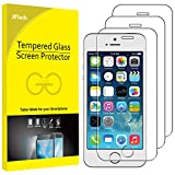 JETech Pellicola Protettiva per iPhone SE, iPhone 5s, iPhone 5 e iPhone 5c, Vetro Temperato, Pacco da 3