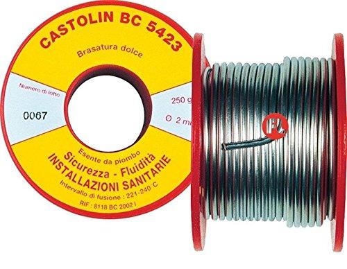 Castolin BC 5423Legierung in Spulen 250g. lötbar Dolce Zinn Kupfer DISOSSIDANTE