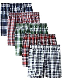 Boxer Men's Sports Cotton Shorts Pack of 5 (Small, Multicolour)