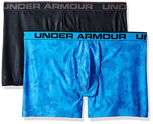 Under Armour Original 6in 2 Pack Novlty, Boxer Uomo Mako Blue / Stealth Gray