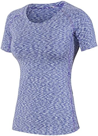 Icegrigio Donna Dry Compression Athletic Camicie Camicie Camicie Manica Corta, Donna, viola, XXL | Materiale preferito  | Il materiale di altissima qualità  754e91