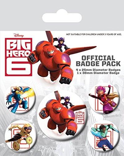 l Big Hero 6Zeichen Badge, Mehrfarbig, 10x 12,5x 1,3cm ()