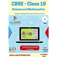 LearnFatafat CBSE Class 10 Video Course Science & Mathematics DVD