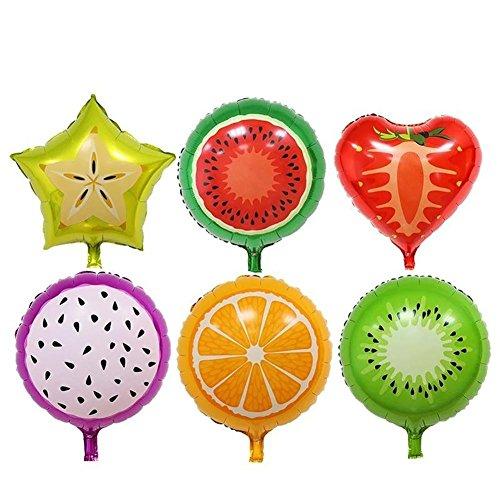 Pitaya Wassermelone Orange Karambola Fruchtkollektion Helium Luftballons Hochzeit Geburtstag Party Deco-45,7 cm X 6 Stück ()
