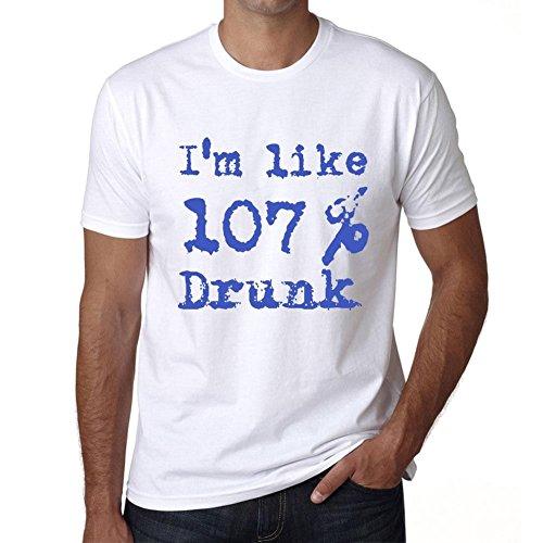 I'm Like 100% Drunk, sono come il 100% maglietta, divertente ed elegante maglietta uomo, slogan maglietta uomo, maglietta regalo, regalo uomo Bianco