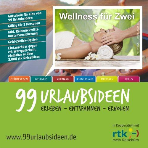 Wellness für 2 Personen - Reisegutschein in ausgewählten Wellness & Beauty Hotels inkl. Übernachtung und weiteren Extras