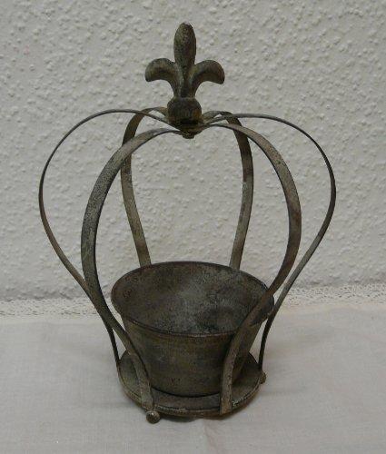 Dekokrone Pflanzkrone Antik Eisen Krone Lilie - M