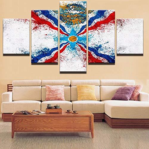 mmwin Lienzo Abstracto s Sala de Estar Decoración para el hogar 5...