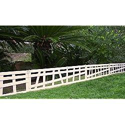Mini valla/bordura MILAN en madera composite. Total piezas: 3 m. Color blanco