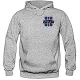 Shirt Happenz Island WM 2018#9 Kapuzenpullover Fußball Herren Knattspyrna Wikinger Trikot Nationalmannschaft, Farbe:Graumeliert (Greymelange F421);Größe:XL