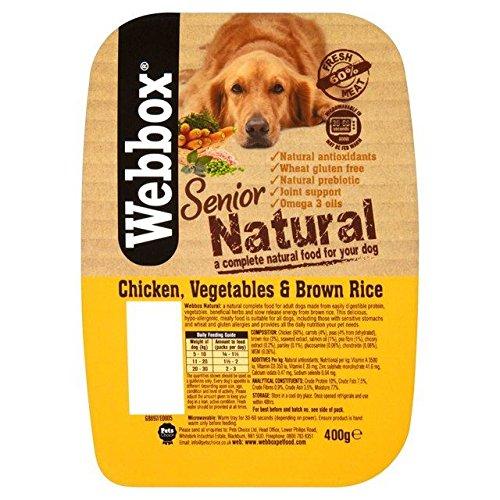 Webbox Senior Natürliche Huhn, Gemüse Und Braunem Reis Hundefutter 400G (Packung mit 4)