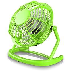 CSL - Mini Ventilateur USB   Mini Ventilateur de Bureau/Fan   pour Ordinateur/Ordinateur Portable   Vert