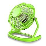 CSL - USB Ventilador | mini ventilador de mesa / fan | PC / portátil | en verde