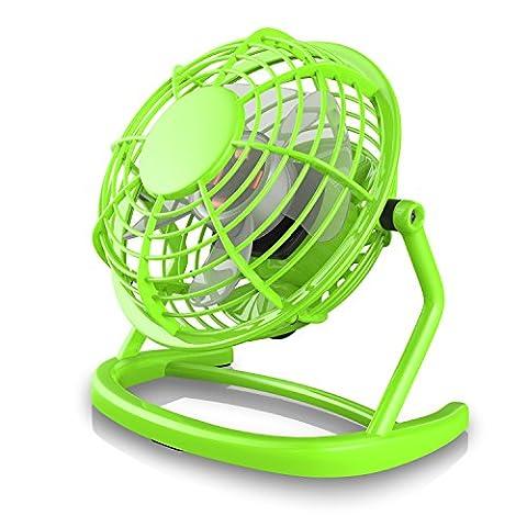CSL - desk-fan / Fan to connect i.e. with the PC   desk fan / Fan   for PC / Notebook   Windows / Apple compatible   green