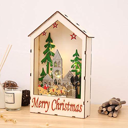eihnachten Leuchtkästen Kreative Geschenk Tischdekoration Weihnachtsschmuck für Home Party LED Beleuchtung Warmweiß ()