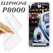 J296 ELEPHONE P8000 P 8000 CARCASA FUNDA TPU VW ESCARABAJO ROMANTICA BONITA