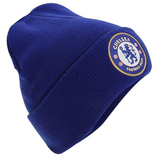Unisex Mütze / Strickmütze mit Chelsea FC Design (Einheitsgröße) (Blau)