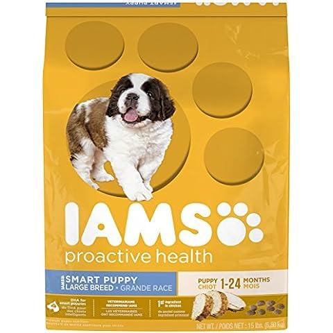 IAMS PROACTIVE HEALTH Smart Puppy Large Breed Dry Puppy Food 15 Pounds by (Iams Large Breed Puppy)