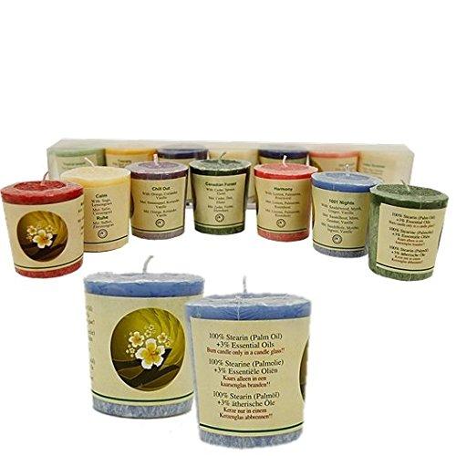 Coffret cadeau de 7 bougies stéarine Bougies parfumées Durée de combustion dans un verre : 16-18 heures