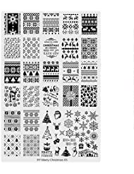 Nail Stamping Plaque Noel Ongle Pochoir Feuille