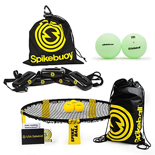 Spikeball Ball-Set mit Spikebuoy + Glow in The Dark Bälle