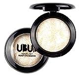 SMILEQ Einzelne gebackene Lidschatten Pulver Palette Shimmer Metallic Eyeshadow Palette (1*Eyeshadow, 7)