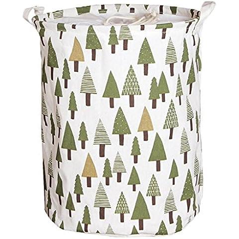 Vine Impermeabile dimensioni apertura di cotone e lino lavanderia secchio