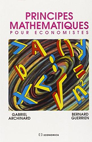 Principes mathmatiques pour conomistes
