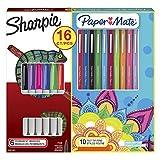 Sharpie kit de marqueurs permanents et de stylos feutres Paper Mate Flair, assortiment de couleurs, lot de16