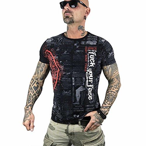 Yakuza Original Herren F.Y.F. T-Shirt Schwarz