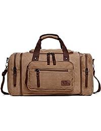 508934be33a69 Fresion Große Segeltuch Reisetasche Tote Handtasche Männer Weekender Duffle  Bag Daypacks für Frauen ...