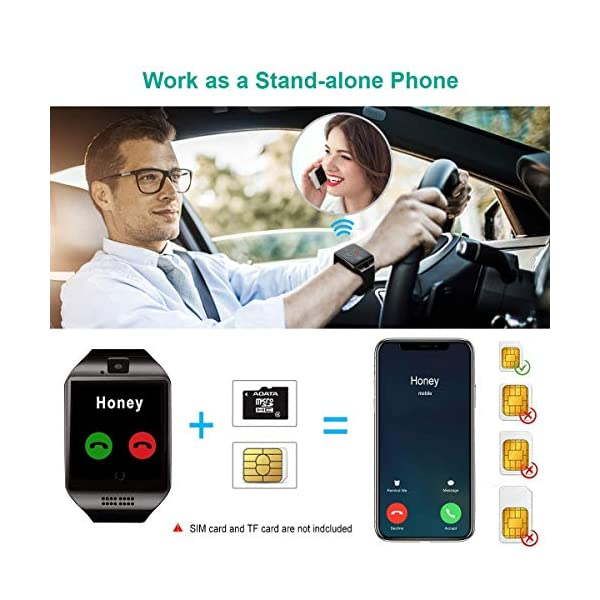 Smartwatch, Impermeable Reloj Inteligente Redondo con Sim Tarjeta Camara Whatsapp, Bluetooth Tactil Telefono Smart Watch… 3