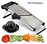 Adjustable Mandolin Slicer by Chef's INSPIRATIONS. Best for Slicing Onions, Potatoes, Tomatoes, Fruit