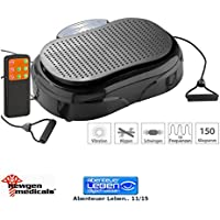 Preisvergleich für Newgen Medicals Vibrationsboard: 3in1-Vibrationsplatte bis 150 kg, 300 Watt, Expander, Fernbedienung (Vibrations Massagegeräte)