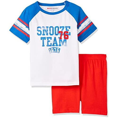 Marca Amazon - RED WAGON Conjunto de Pijama de Pantalón Corto para Niño 4