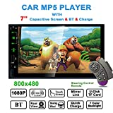 Bosszi Autoradio 2 DIN Car Stereo con Touch Screen HD 7 pollici Suppor Bluetooth Vivavoce/Mirror Link/FM/USB/TF Card/AUX-in (Selecamera Posteriore Inclusa)