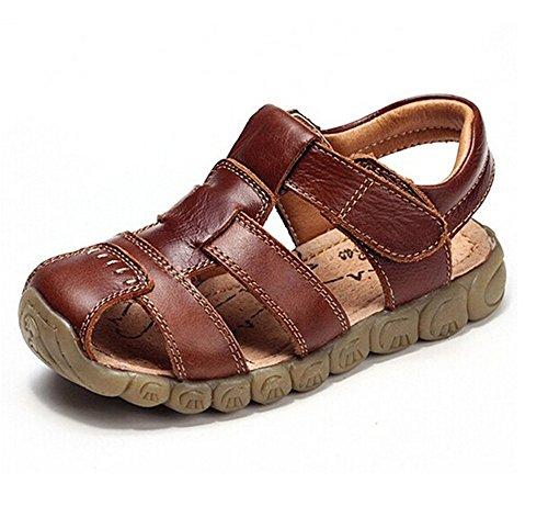 Baby Boy Fisherman Cuir Fermé-Toe Sandal Summer Beach Flat Shoes (Toddler / Little Kid / Big Kid)