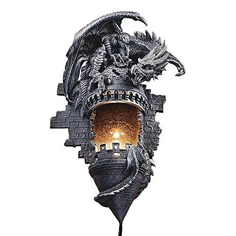 Design Toscano Applique murale sculpturale Repaire du dragon