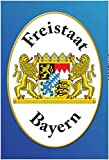 Freistaat Bayern Motiv 1 Blechschild Metallschild Schild gewölbt Metal Tin Sign 20 x 30 cm