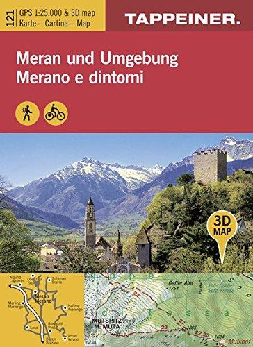 KOKA121 Kombinierte Wanderkarte Meran und Umgebung - GPS kompatibel - Maßstab 1:25.000 (Kombinierte Sommer-Wanderkarten Südtirol) par Tappeiner