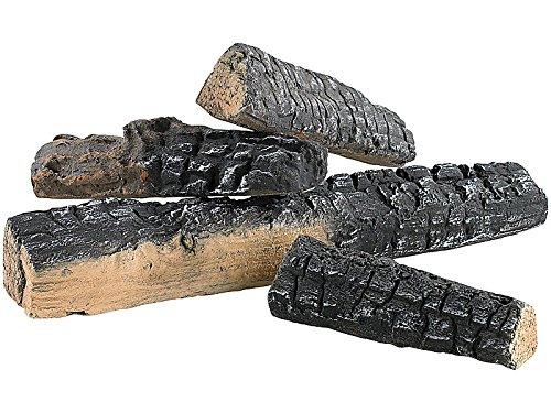 Leña Carlo Milano:Decoración en cerámica con leña para horno de bioetanol (4unidades)(piedras...