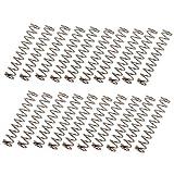 MagiDeal 20 Stück 28mm Lange Gerade Humbucker Pickup Montagefedern für E-Bass Pickups und Bridge Sättel - Silber