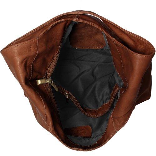 CASPAR Damen Handtasche / Schultertasche / Shopper / aus weichem NAPPA LEDER - viele Farben - TL610 marone