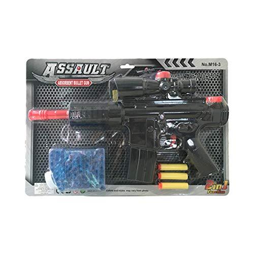 Ousdy - Pistola de Juguete 2 en 1 M16-3 Proyectiles Goma Eva & Gel