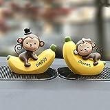 Ornamenti Per Auto Moda Cartone Animato Amore Banana Scimmia Bambola Automobile Cruscotto Decorazione Simpatici Accessori Per Interni Auto Regalo Artigianale02 Bana