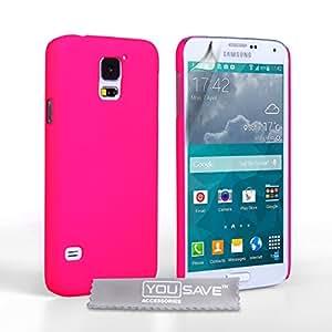 Yousave Accessories SA-EA03-Z792 Coque hybride pour Samsung Galaxy S5 Mini Rose Chaud