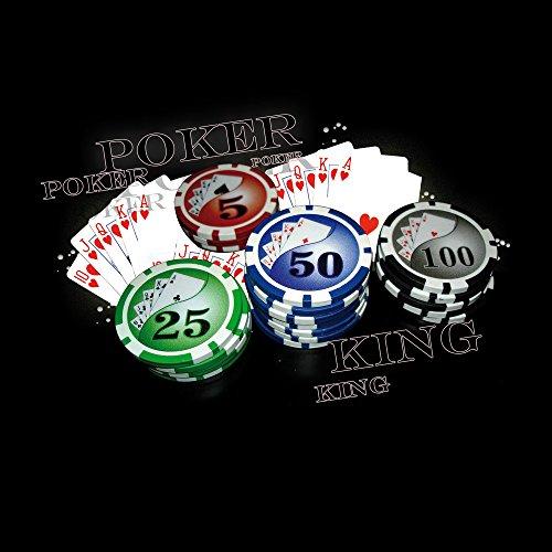 Apple iPhone 4 Housse Étui Silicone Coque Protection Poker Jeu de cartes Casino Sac Downflip noir