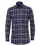 Casa Moda - Comfort Fit - Flanell Herren Hemd kariert mit Button Down-Kragen (483090600), Größe:XL, Farbe:Blau (102)
