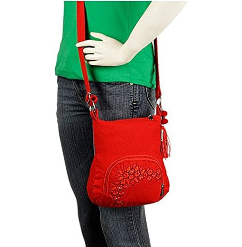 pick pocket Women's Sling Bag (Crimson, Slredemb39) Image 5